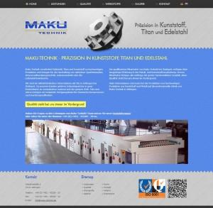 Design für maku-technik.de